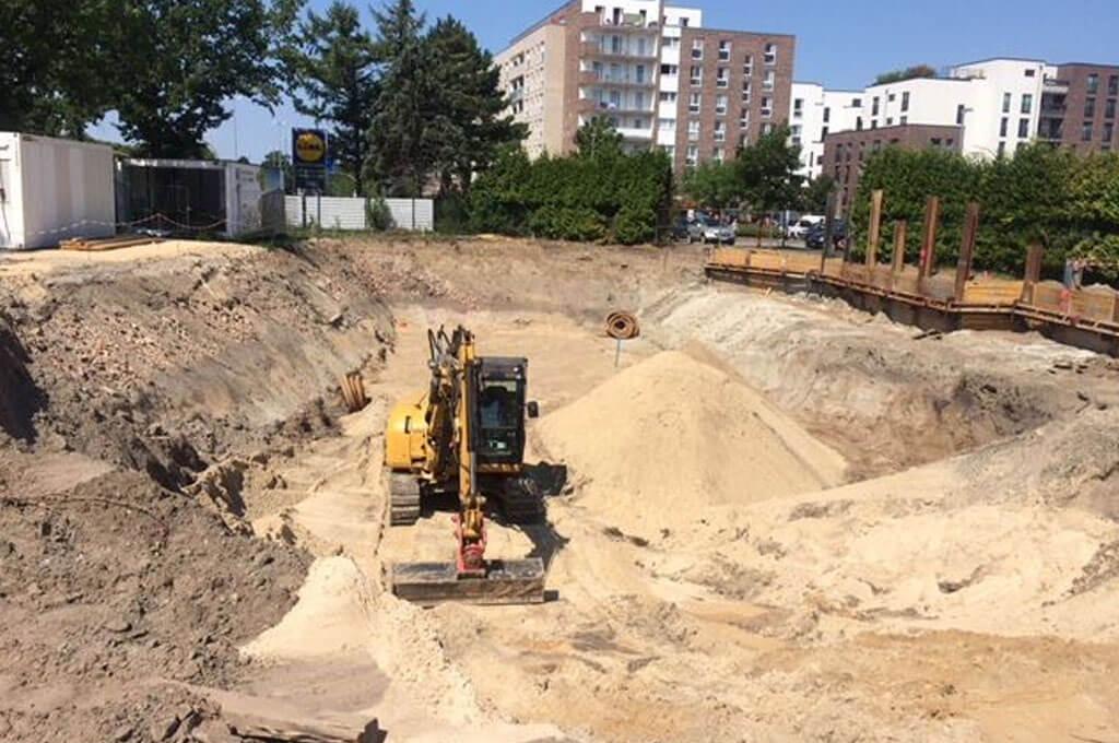 Baustelle Mikroapartments Othmarschen
